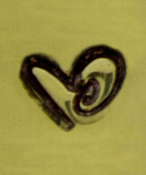 PN6368 = ImpressArt Design Stamp - boogie heart 6mm