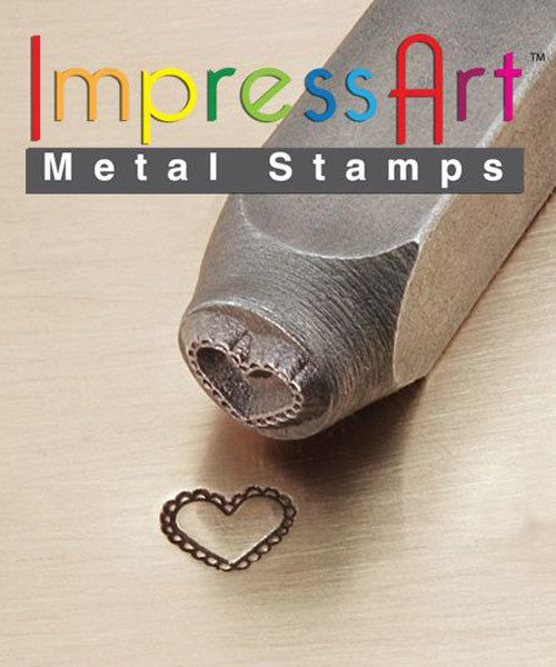 PN6367 = ImpressArt Design Stamp - lace heart 6mm