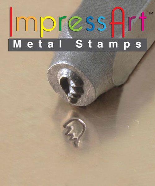 PN6365 = ImpressArt Design Stamp - broken heart right side 6mm