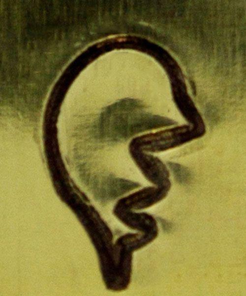 PN6364 = ImpressArt Design Stamp - broken heart left side 6mm