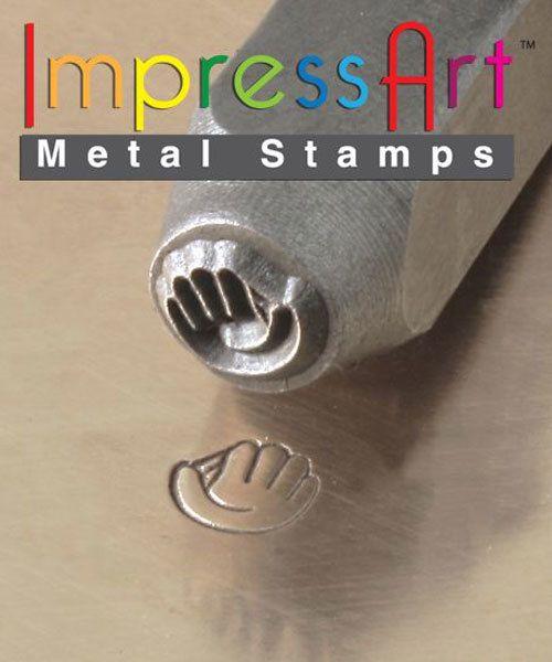 PN6357 = ImpressArt Design Stamp - baseball glove 6mm