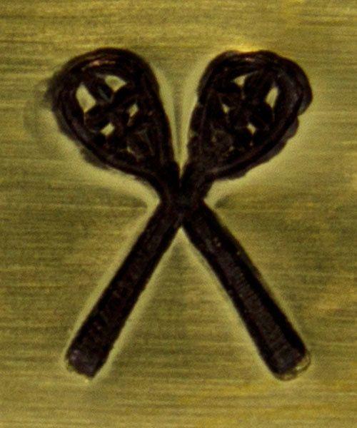 PN6355 = ImpressArt Design Stamp - lacross sticks 6mm
