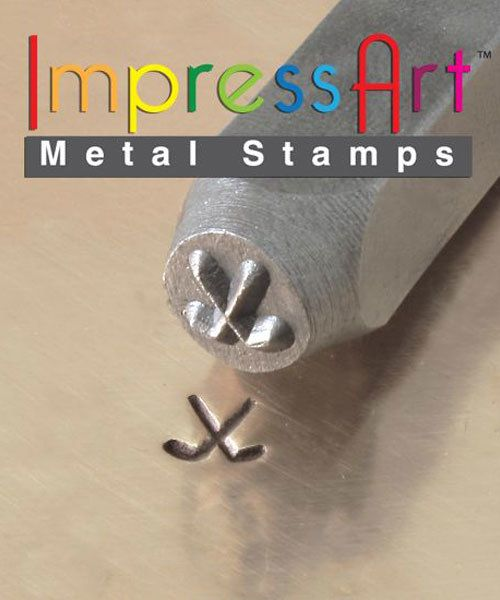 PN6354 = ImpressArt Design Stamp - hockey sticks 6mm
