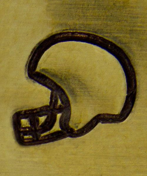 PN6353 = ImpressArt Design Stamp - football helmet 6mm