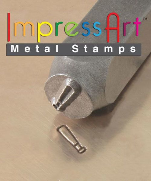 PN6351 = ImpressArt Design Stamp - baseball bat 6mm