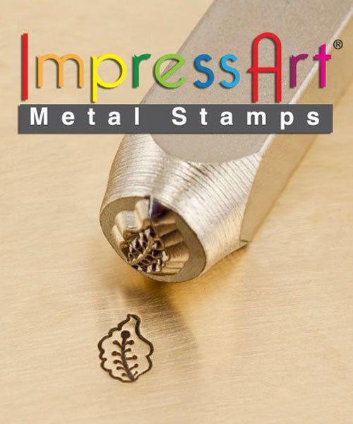PN6337 = ImpressArt Design Stamp - caladium leaf  6mm