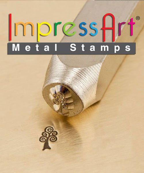 PN6332 = ImpressArt Design Stamp - swirl tree 6mm