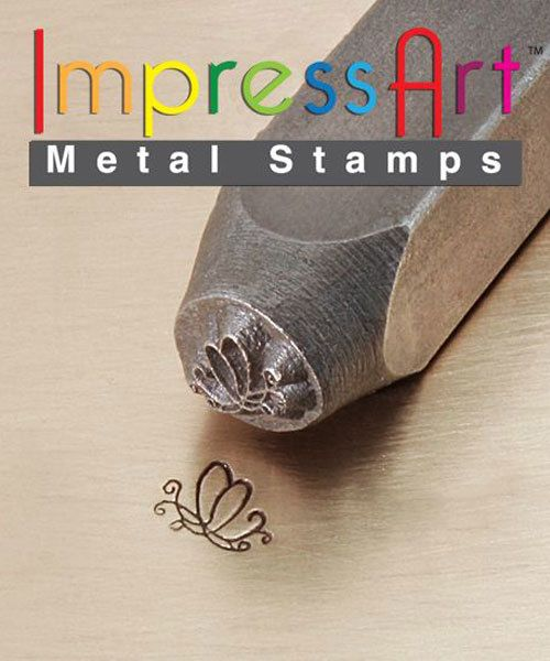 PN6329 = ImpressArt Design Stamp - butterfly swirl #2 6mm