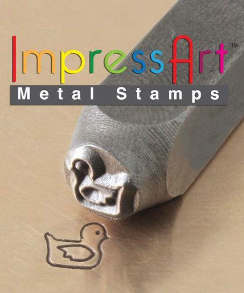 PN6308 = ImpressArt Design Stamp - rubber ducky 6mm