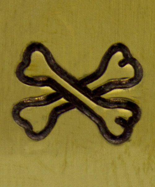 PN6294 = ImpressArt Design Stamp - crossbones 6mm