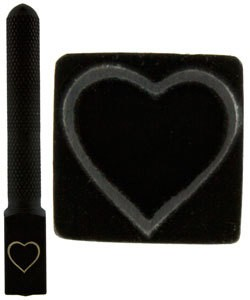 PN5731 = DESIGN STAMP ELITE JUMBO 10mm - heart