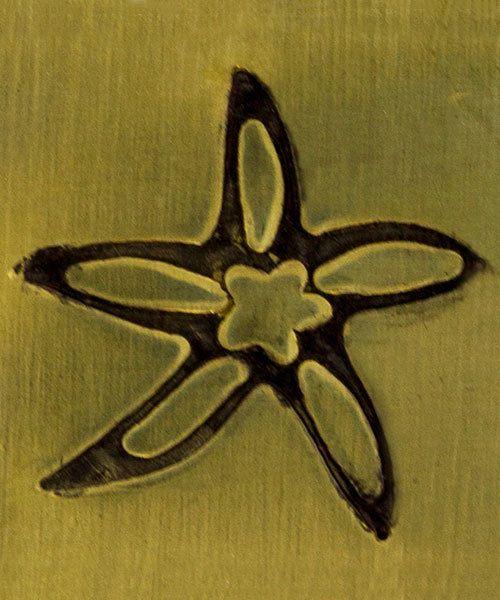 PN5716 = DESIGN STAMP ELITE JUMBO 10mm - star fish