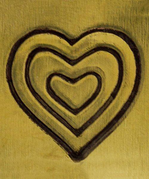 PN5713 = DESIGN STAMP ELITE JUMBO 10mm - triple heart
