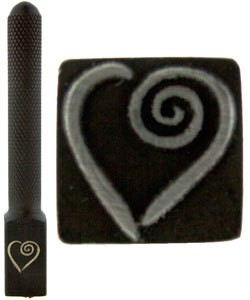 PN5711 = DESIGN STAMP ELITE JUMBO 10mm - fancy heart