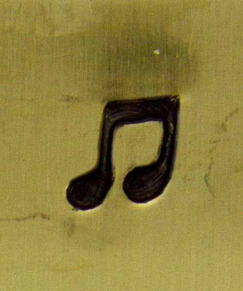 PN5308 = DESIGN STAMP - solid musical note