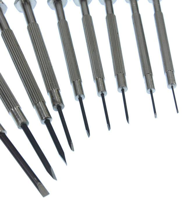 52.0742 = Economy Screwdriver Set with Fixed Blades (9pcs)