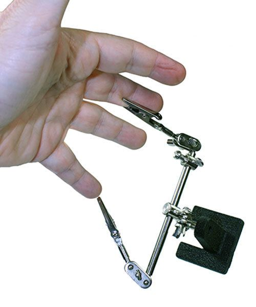 54.085 = Dual Third Hand Holder with Magnifer