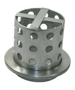 21.705 = Perforated Casting Flask 3-3/8'' DIA x 4'' H