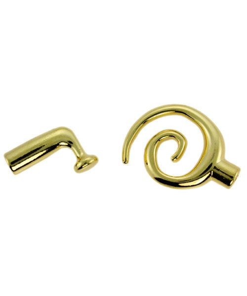 6000GP-01 = KUMIHIMO SMALL GLUE IN SWIRL TOGGLE GOLD PLATED