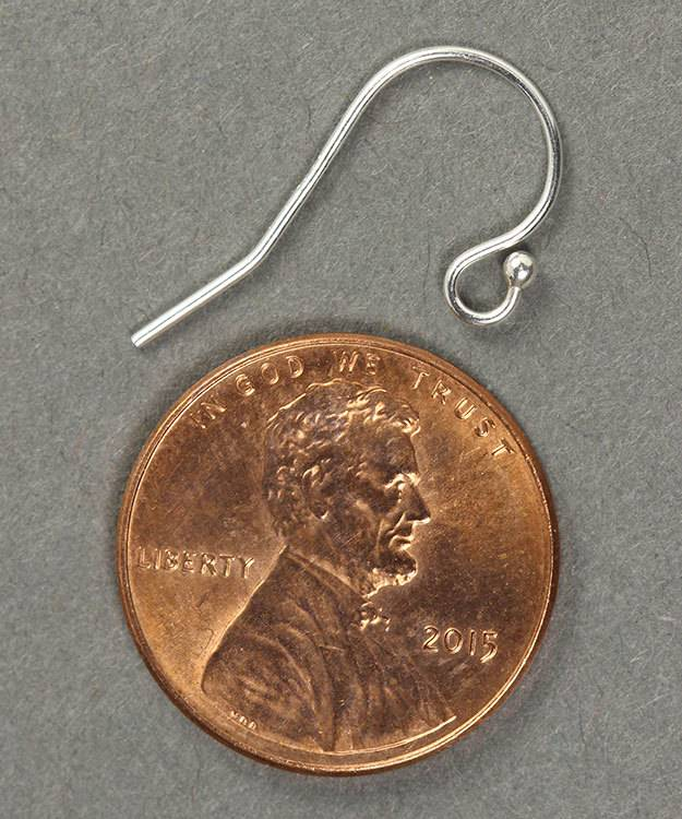 803S-07 = Earwire with Ball End Sterling Silver (Pkg of 10)