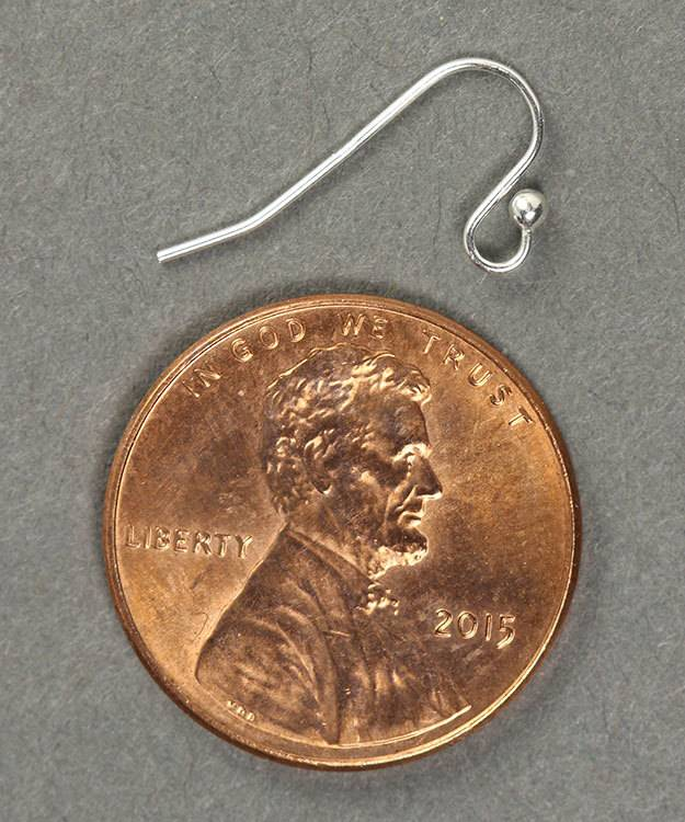 803S-09 = Petite Earwire with Loop & Ball Sterling Silver (Pkg of 10)