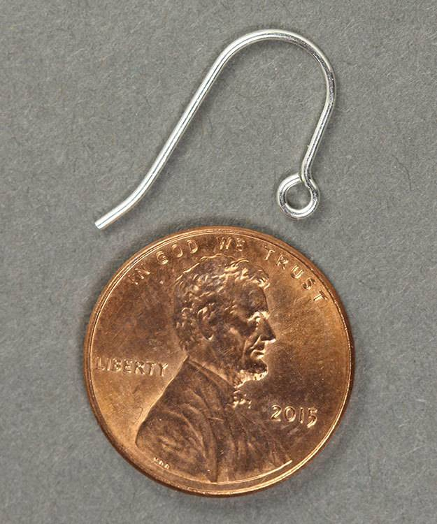 803S-10 = Earwire with Loop Sterling Silver  (Pkg of 10)