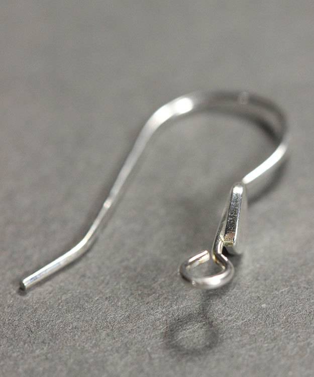 803S-11 = Earwire with Heart 22mm Long Silver Silver .030'' Wire (Pkg of 6)