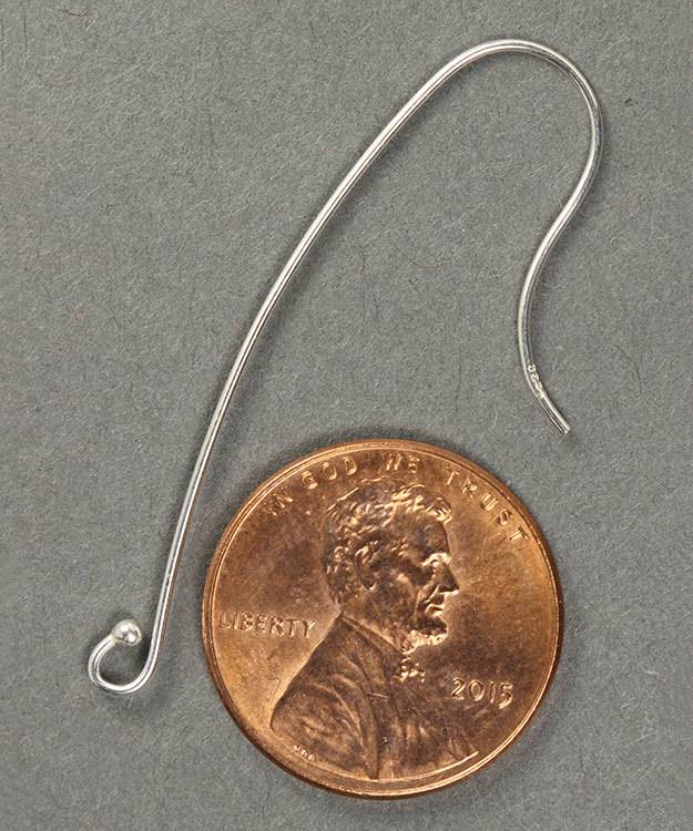 803S-17 = Earwire Long with Ball End Sterling Silver (Pkg of 10)
