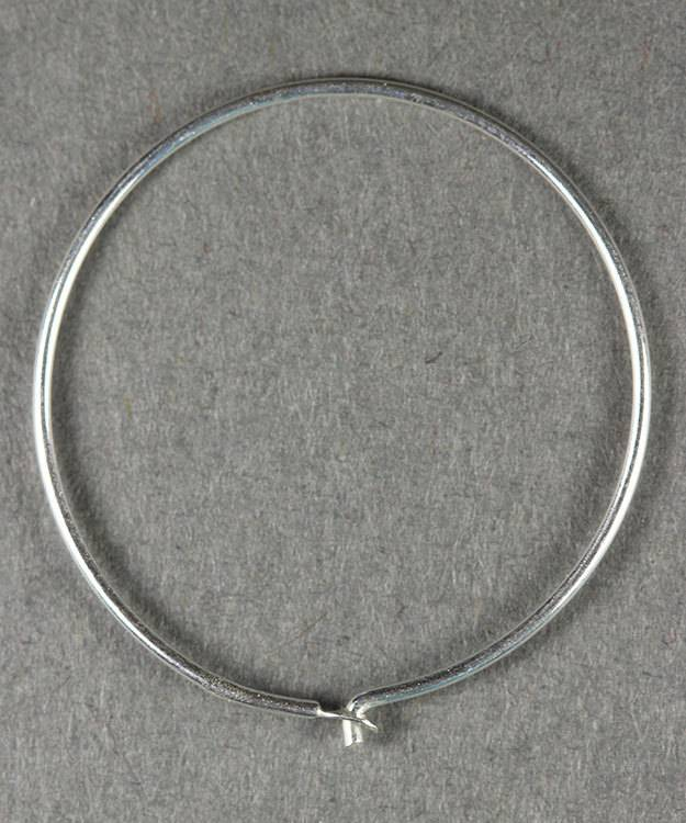 804S-51 = Ear Wire Hoop Sterling Silver 24mm (Pkg of 6)