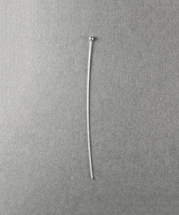 807S-20 = Head Pin Sterling Silver 2''x.020'' (24ga/.5mm) with Ball End (Pkg of 10)