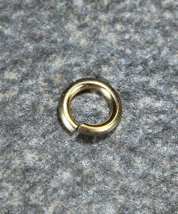 900-2H = Open Jump Ring 2mm ID x .025'' (22ga) Wire 14KY Gold