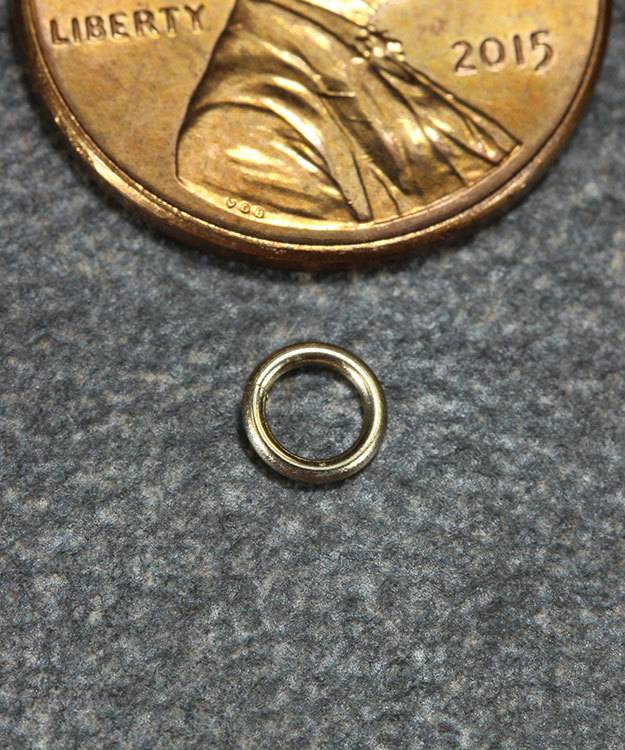 900-4H = Open Jump Ring 3mm ID x .030'' (20ga) Wire 14KY Gold