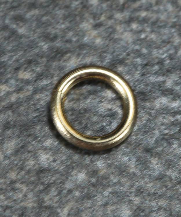 """900-4H-10K = Open Jump Ring 3mm ID x .030"""" (20ga) Wire 10KY Gold500129"""