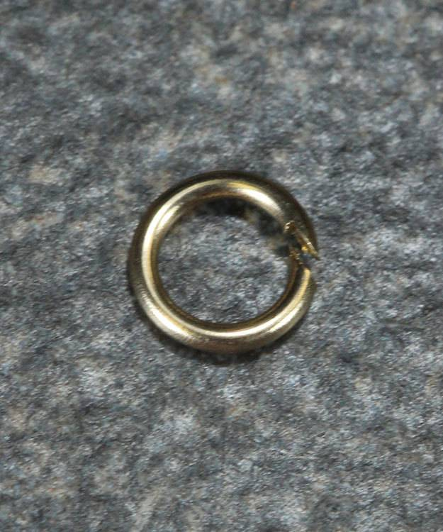 900-4L = Open Jump Ring 3mm ID x .025'' (22ga) Wire 14KY Gold