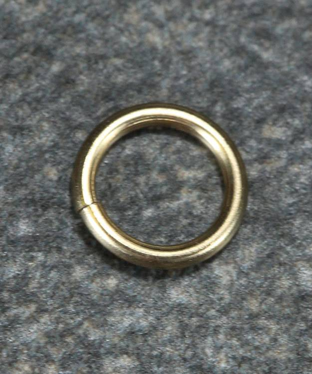 900-5L = Open Jump Ring 3.8mm ID x .030'' (20ga) Wire 14KY Gold