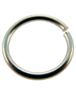 900S-13255 = Open Jump Ring Sterling Silver 13.2mm ID x .055'' (15ga) (Pkg of 3)