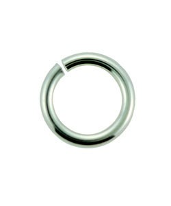 900S-3.0 = Open Jump Ring Sterling Silver 3mm ID x .025'' (22ga) (Pkg of 50)