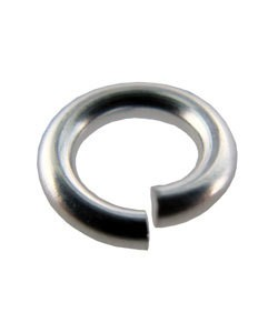900S-4.0H = Open Jump Ring Sterling Silver 4mm ID x .055'' (15ga) (Pkg of 10)