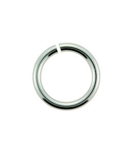 900S-6.0 = Open Jump Ring Sterling Silver 6mm ID x .040'' (18ga) (Pkg of 10)