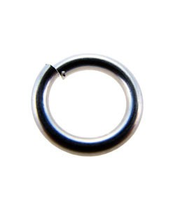 900S-9055 = Open Jump Ring Sterling Silver 8.9mm x .055'' (16ga) (Pkg of 5)