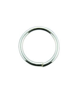 900SF-10040 = SILVER FILLED JUMP RING 10.0mm OD X .040'' WIRE (Pkg of 10)