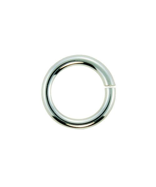 900SF-7040 = Open Jump Ring 7.0mm OD x .040'' (18ga) Wire Silver Filled (Pkg of 10)