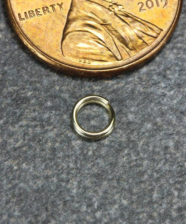 901-01 = Round Split Ring 4.5mm 14KY Gold