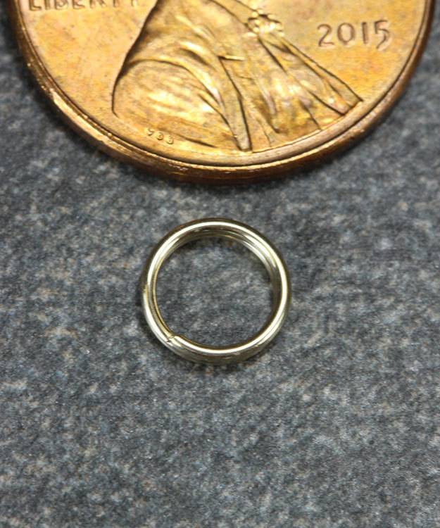 901-03 = Round Split Ring 6.25mm 14KY Gold
