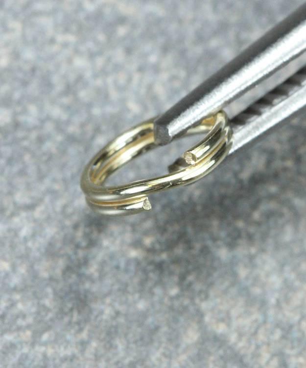 901-04 = Round Split Ring 7.5mm 14KY Gold