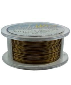WR6724V = Craft Wire Vintage Bronze Color 24ga 20 YARDS