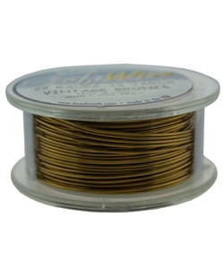 WR6722V = Craft Wire Vintage Bronze Color 22ga 15 YARDS