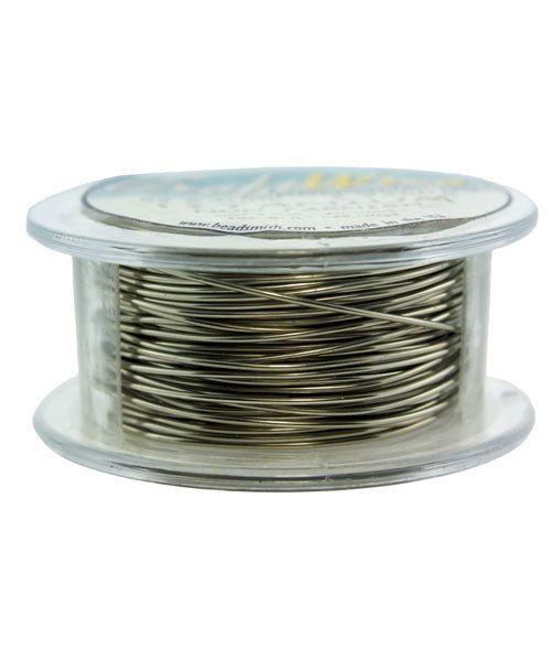 WR6722T = Craft Wire Tarnish Resistant Titanium Color Round 22ga 8 YARDS