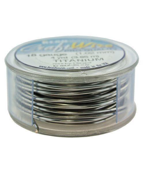 WR6718T = Craft Wire Tarnish Resistant Titanium Color Round 18ga 4 YARDS
