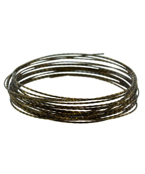 WR6321V = CRAFT WIRE TWISTED SQUARE Vintage Bronze Color 21ga 5yd SPOOL